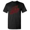 RZR Karnage Logo in Red on a Black T Shirt