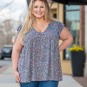 Plus Size Animal Print Top Blouse Apparel Clothing VLU STYLE