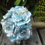 Map Paper Roses Wedding Bouquet