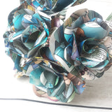 Blue Comic Book Paper Roses