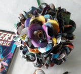 Comic Book Paper Flowers