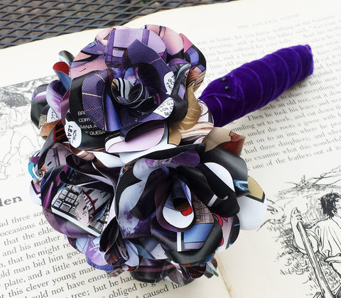 Comic Book Paper Flower Bridal Bouquet
