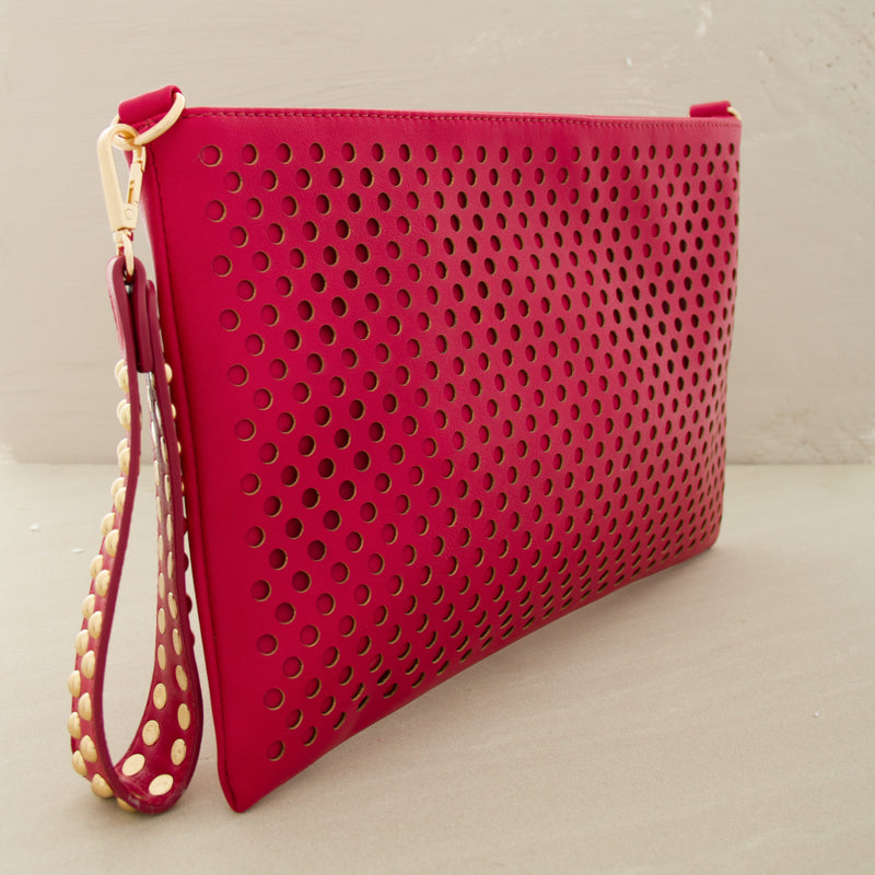Cutout Polka Dots Clutch