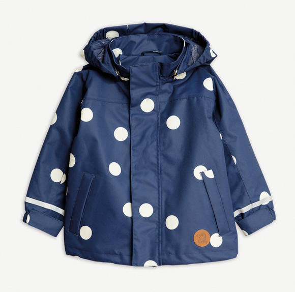 Mini Rodini Navy Edelweiss Shell Jacket