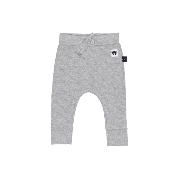 Hux Baby  Stitch Drop Crotch Pant - Grey Marle