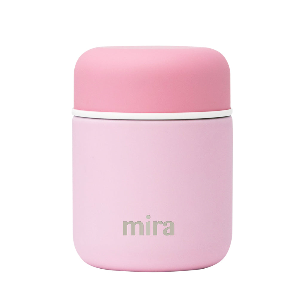 Mira Vacuum Insulated Lunch Food Jar | 9 Oz (280 ml) | Pink, Lid - Pink
