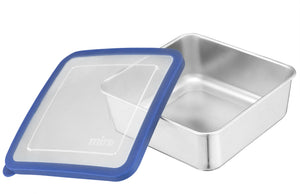 MIRA Stainless Steel Lunch Box Food Storage Container | 6 x 6 in | Blue