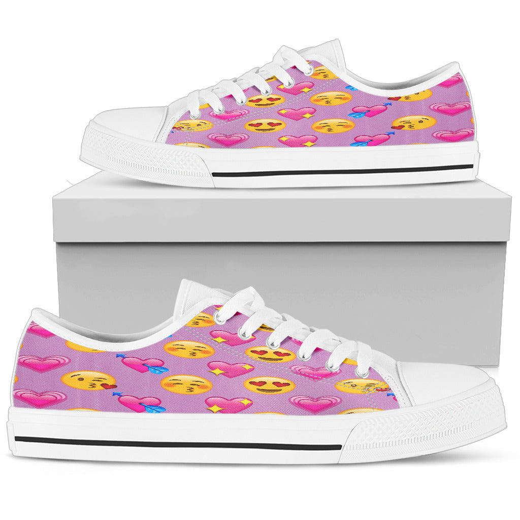 Emoji Love Womens Low Top Shoes