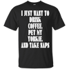 Image of Drink Coffee Pet My Yorkie Men Tee
