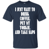 Image of Drink Coffee Pet My Yorkie Men Tee - STUDIO 11 COUTURE
