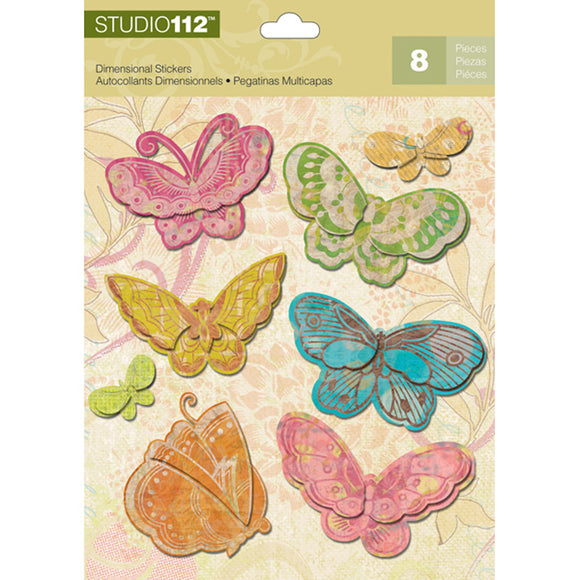 K&Company Studio 112 Dimensional Stickers - Candy Butterfly