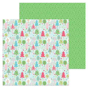 Doodlebug Design Papers - Milk & Cookies - Tree Festival - 2 Sheets