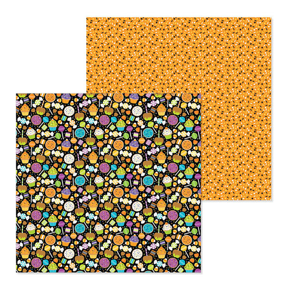 Doodlebug Design Papers - Pumpkin Party - Spooky Sweets - 2 Sheets