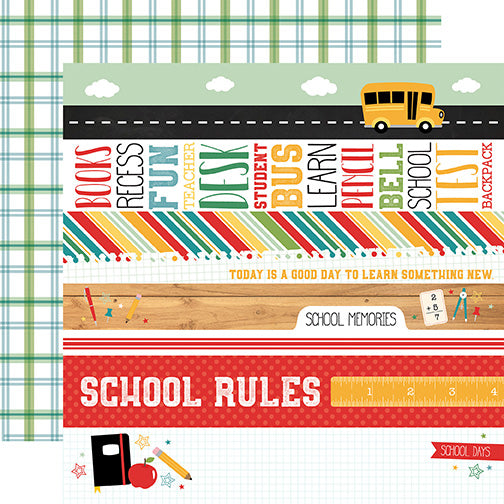 Echo Park Cut-Outs - Back to School - Border Strips