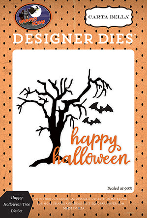 Carta Bella Designer Dies - Haunted House - Happy Halloween Tree Set