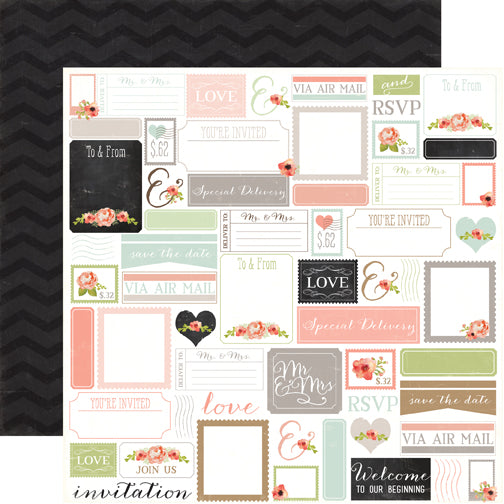 Carta Bella Cut-Outs - Rustic Elegance - Labels