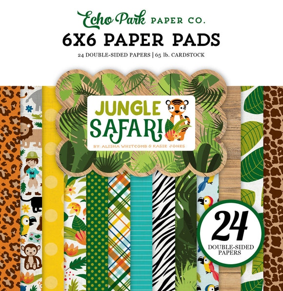Echo Park 6x6 Pad - Jungle Safari
