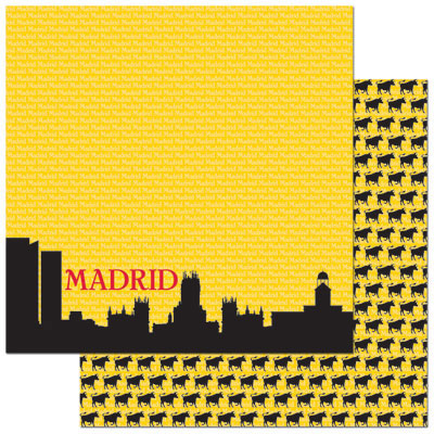 Reminisce Papers - Passports - Madrid - 2 Sheets
