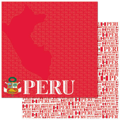 Reminisce Papers - Passports - Peru - 2 Sheets
