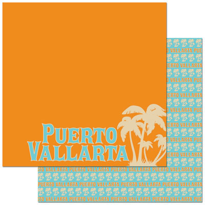 Reminisce Papers - Passports - Puerto Vallarta - 2 Sheets