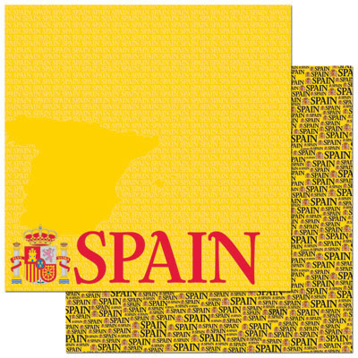 Reminisce Papers - Passports - Spain - 2 Sheets