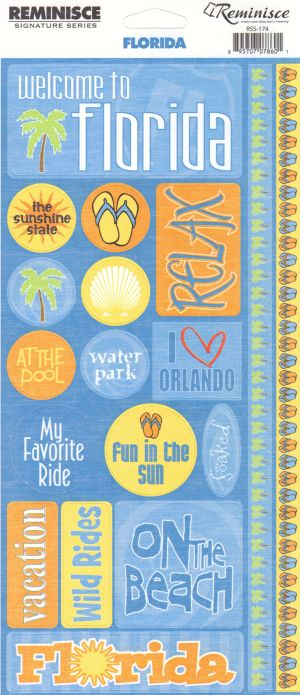 Reminisce Stickers - Florida - Welcome to Florida