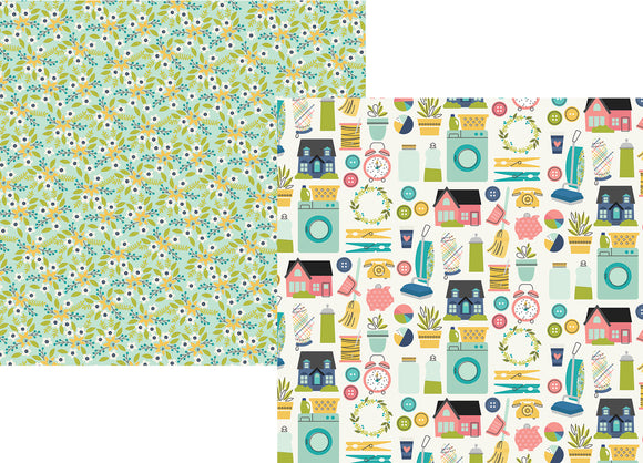 Simple Stories Papers - Domestic Bliss - Loads of Fun - 2 Sheets
