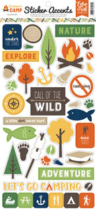Echo Park Cardstock Stickers - Summer Camp