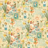 Graphic 45 Papers - Children's Hour - April Montage - 2 Sheets