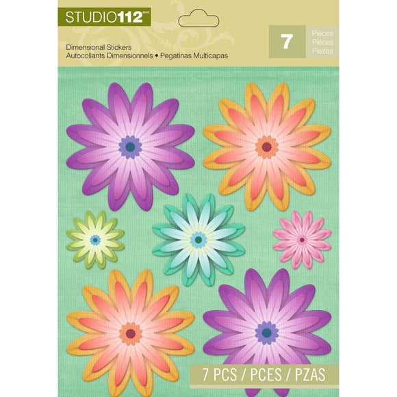 K&Company Studio 112 Dimensional Stickers - Spring Floral