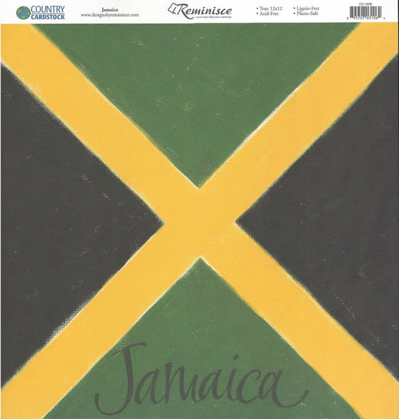 Reminisce Papers - Country Cardstock - Jamaica - 2 Sheets