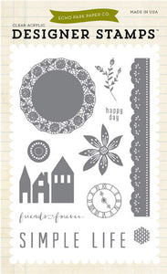 Echo Park Clear Stamp Set - Simple Life