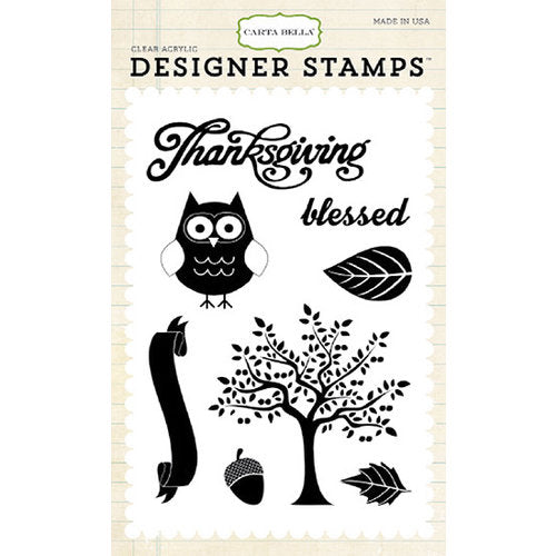 Carta Bella Clear Stamp Set - Thankful Blessing