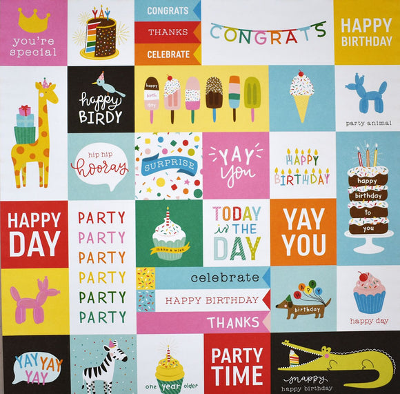 Pebbles Cut-Outs - Happy Hooray - Party Time