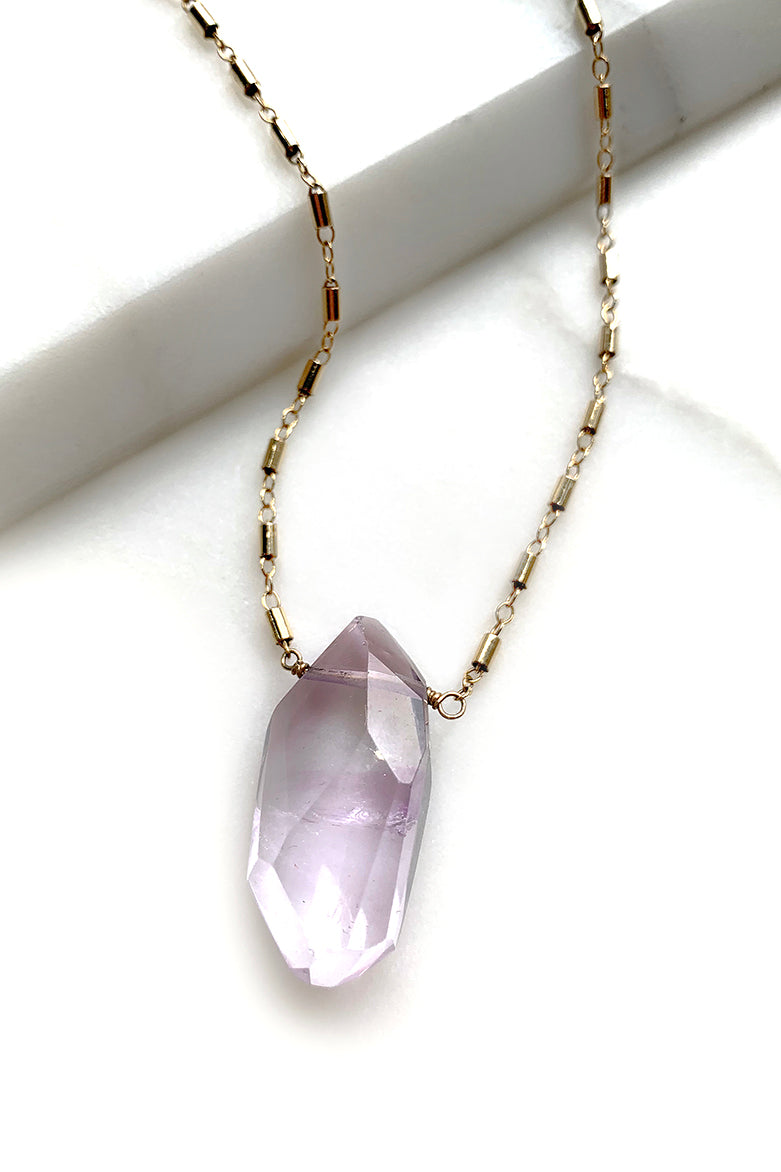 Ametrine Gold Chain Necklace