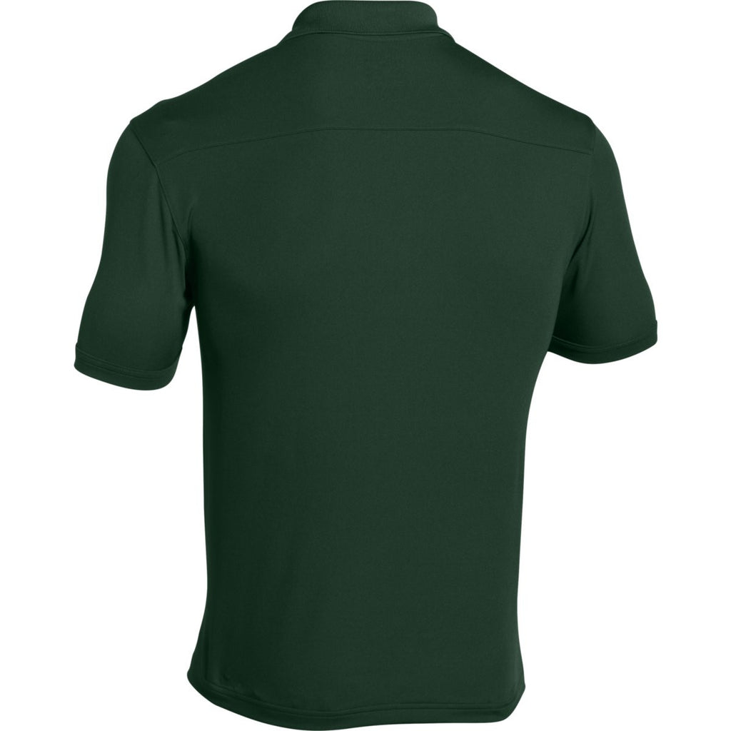 Under Armour Men's Forest Green Team Armour Polo