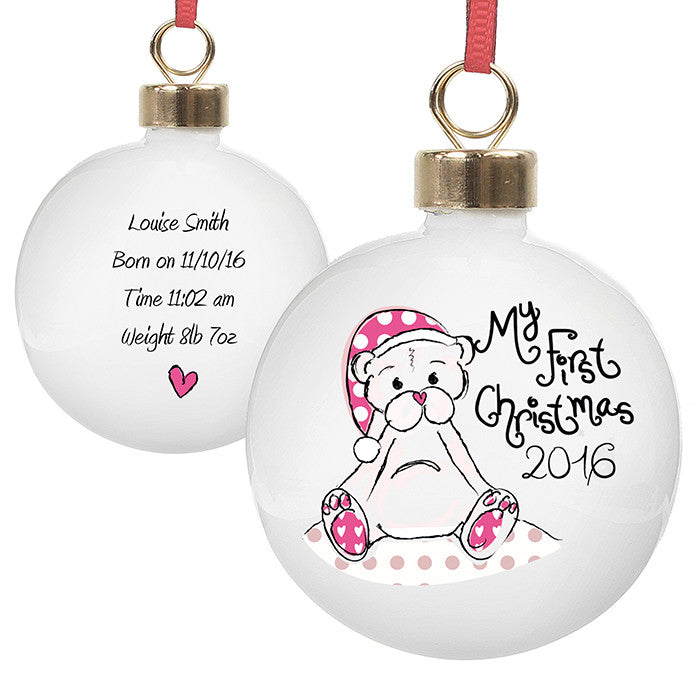 'My First Christmas' Teddy Bauble