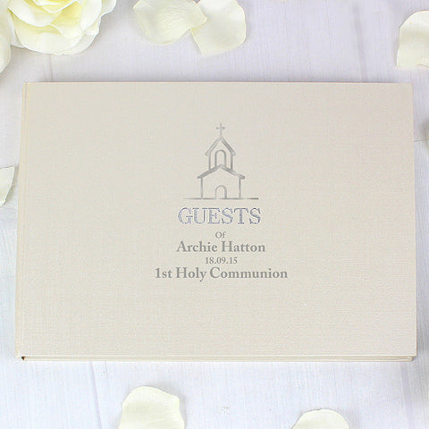 Hardback Guest Book with Church Design