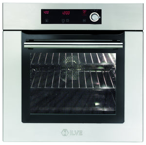 60cm Slim Single Built-In Pyrolytic Oven Stainless Steel
