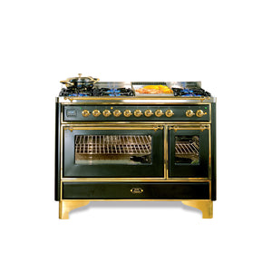 Majestic Milano 120cm 90 / 30 Twin Dual Fuel Range Cooker Green