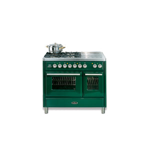 100cm Twin Gas Range Cooker Green