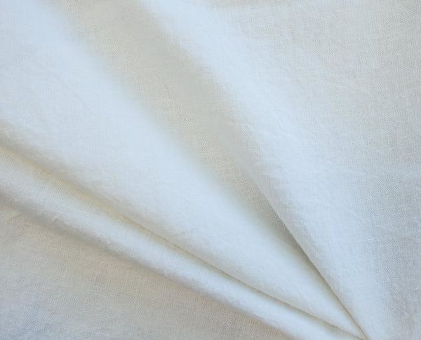 Ivory - Yarn Dyed Linen Cotton - 1/2 metre