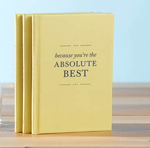 Because You're the Absolute Best gift book