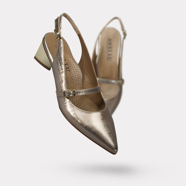 The Gigi - Champagne Metallic Linen