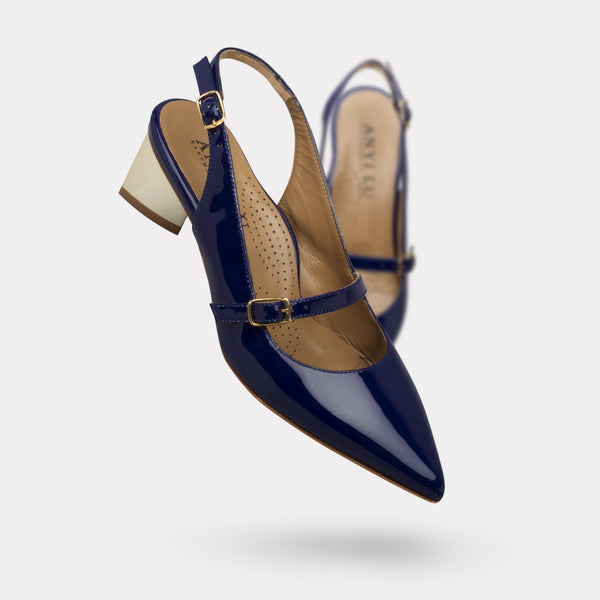 The Gigi - Navy Patent