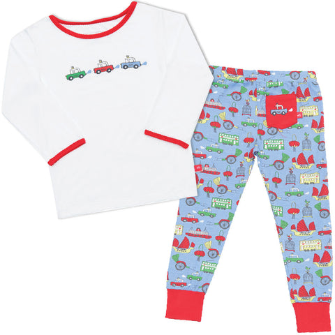 Bamboo long John Pyjamas - Jack's Sneakers