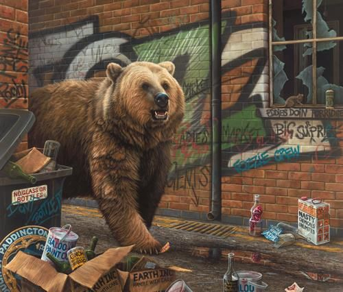 Grizzly on Canvas - paul James
