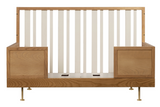nurseryworks novella crib stained ash and ivory toddler bed