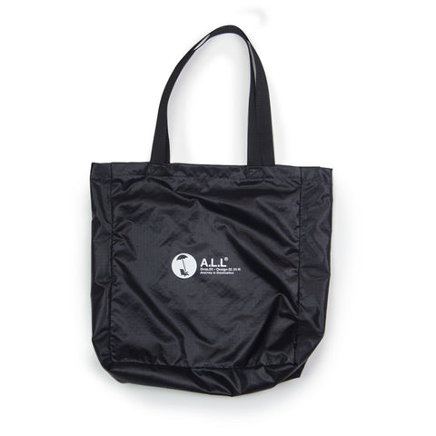 ALL DROP.03  RIPSTOP TOTE IN BLACK