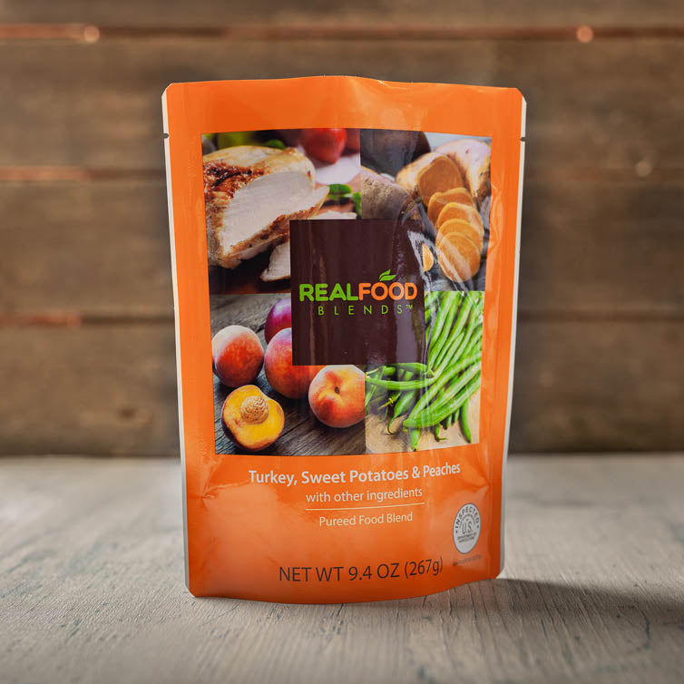 TURKEY, SWEET POTATOES & PEACHES (12-pack) Blenderized Meals